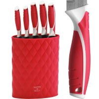 Набор ножей Mayer&Boch 6 предметов на подставке цвет красный 26988-4