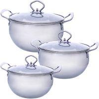 Набор посуды Mayer&Boch 6 предметов 1,3+1,7+2,4 л 30333