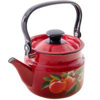 Чайник 2 л цилиндрический красный 42715-103-6-у4кр