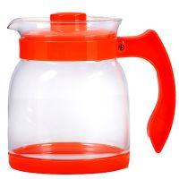 Чайник заварочный Mayer&Boch 1,5 л из стекла с оранжевой ручкой и крышкой 29954-1