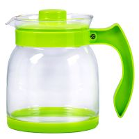 Чайник заварочный Mayer&Boch 1,5 л из стекла с зеленой ручкой и крышкой 29954-2