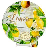 Тортовница Loraine 30 см с принтом лимоны и лопаткой 29880