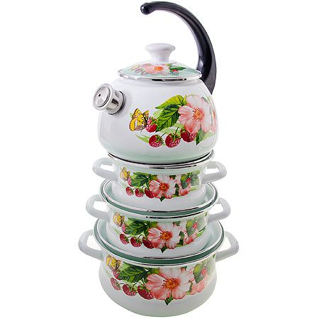 Набор 4 предмета Солнышко-С (профил 1,6л, 2,1л, 3л, чайник 2л) 42030