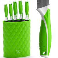 Набор ножей Mayer&Boch 6 предметов на подставке зеленые 26988-3