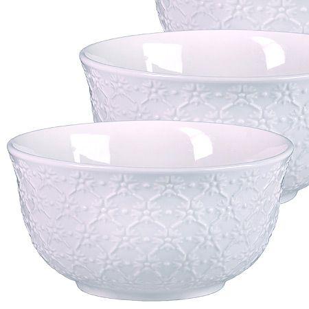 Набор салатниц Loraine 3 шт материал керамика цвет белый 29603
