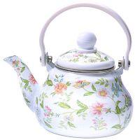 Заварочный чайник Mayer&Boch 800 мл эмалированный сдекором и с ситом 29753