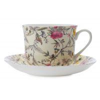 Чашка с блюдцем Летние цветы, большая, в подарочной упаковке MW637-WK03300