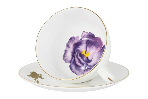 Чашка с блюдцем Iris Julia Vysotskaya JV2-503-IR