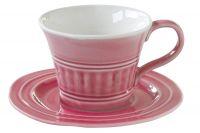Чашка с блюдцем (тёмно-розовый) Abitare, большая, Easy Life (R2S) EL-R1872_ABDP