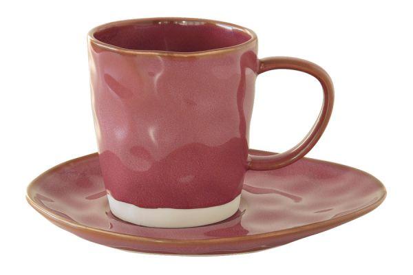 Чашка с блюдцем (тёмно-малиновый) Interiors Easy Life (R2S) EL-R2016_INTU