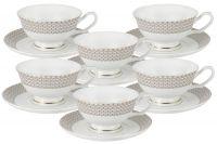 Набор 12 предметов Скандинавия: 6 чашек + 6 блюдец Anna Lafarg Emily AL-18614_12-E5
