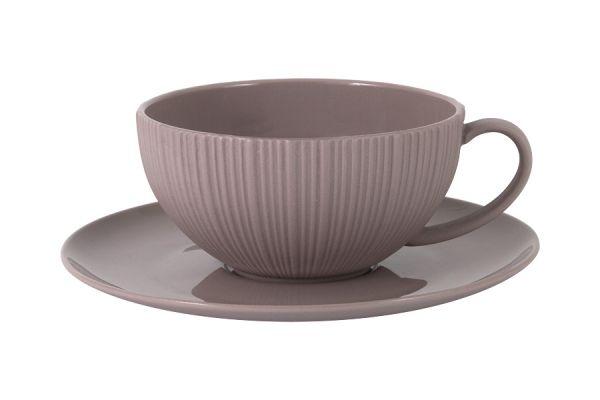 Чашка с блюдцем (какао) Home & Style HS4-G099-4G2S