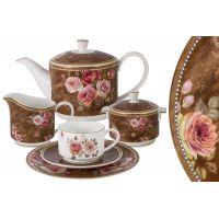 Чайный сервиз Английская роза 21 предмет на 6 персон Anna Lafarg Emily AL-M2188_21-E9