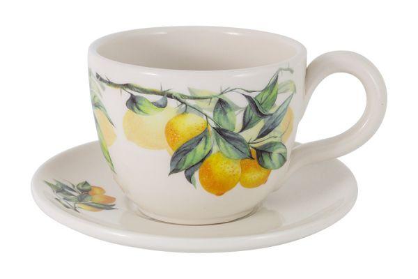 Чашка с блюдцем Лимоны Julia Vysotskaya JV3-933TP-30031