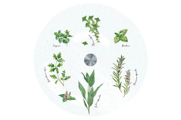 Блюдо стеклянное вращающееся Herbarium Easy Life (R2S) EL-R0441_HERU