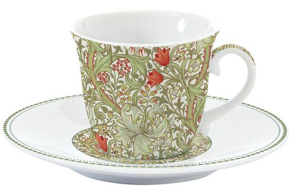 Чашка с блюдцем (зелёный) Уильям Моррис Easy Life (R2S) EL-R1106_WILG