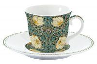 Чашка с блюдцем (темно-зелёный) Уильям Моррис Easy Life (R2S) EL-R1106_WILB