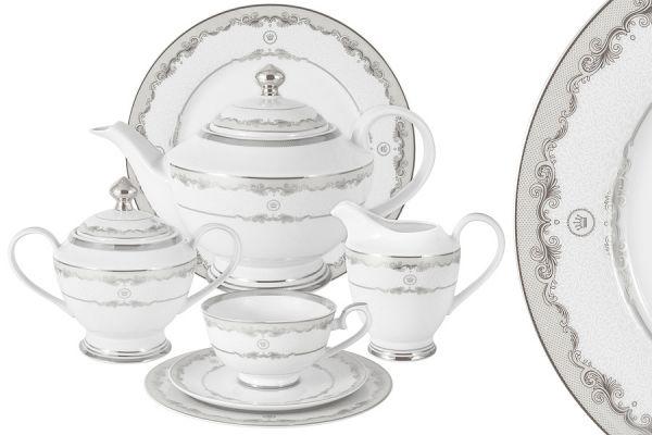 Чайный сервиз Корона Midori (серебро) 42 предмета на 12 персон MI2-K3036-E6_42-S