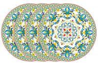 Набор из 4-х десертных тарелок Средиземноморье в подарочной упаковке EL-R0924_MEBL