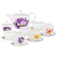 Чайный сервиз Flowers 14 предметов AL-514IR-E11