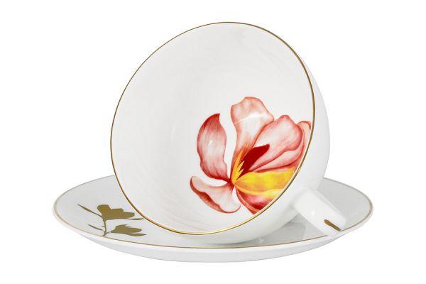 Чашка с блюдцем Magnolia в подарочной упаковке AL-703M-E11