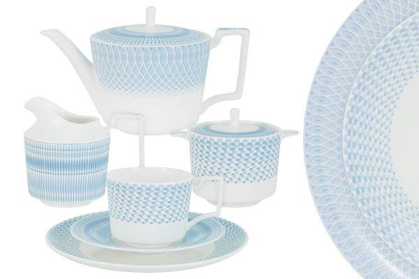 Чайный сервиз Блюз 21 предмет на 6 персон NG-I190302L-21