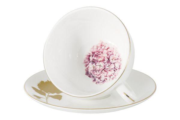 Чашка с блюдцем Гортензия в подарочной упаковке AL-903H-E11
