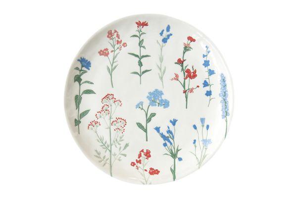 Тарелка закусочная (голубой) Луговые цветы без индивидуальной упаковки EL-R2202_MILB