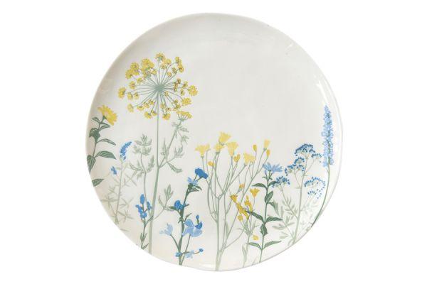 Тарелка обеденная (жёлтый) Луговые цветы без индивидуальной упаковки EL-R2200_MILY