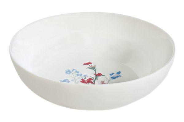 Тарелка суповая (голубой) Луговые цветы без индивидуальной упаковки EL-R2201_MILB