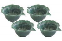 Набор из 4 салатников (зелёный) Мадагаскар в подарочной упаковке EL-R2058_LEGR
