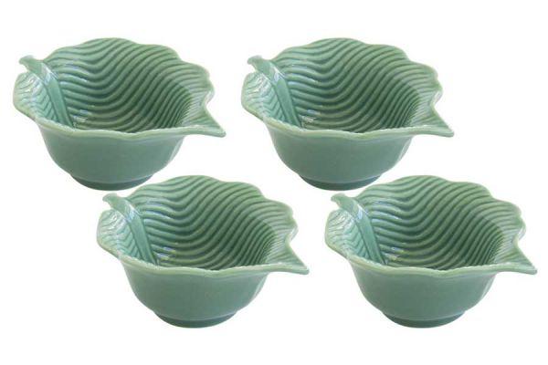 Набор из 4 салатников (светло-зелёный) Мадагаскар в подарочной упаковке EL-R2058_LELG