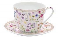 Чашка с блюдцем Цветочная симфония в подарочной упаковке EL-R1454_SYMP