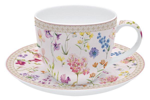 Чашка с блюдцем Цветочная симфония в подарочной упаковке EL-R1036_SYMP