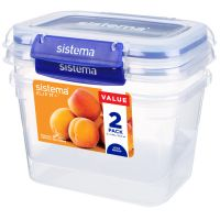 Набор контейнеров 1.49 SISTEMA Klip It+ 2шт 881642