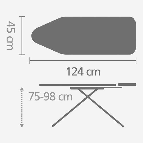 Гладильная доска Brabantia 124x45 см 8,5 кг 118524