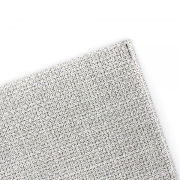 Салфетка подстановочная CHILEWICH Basketweave White/Silver жаккардовое плетение 36x48 см 100110-042