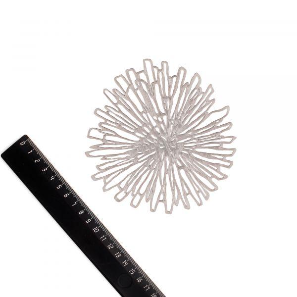 Набор салфеток подстановочных для чашек CHILEWICH Bloom Gunmetal 6 шт 12,2x12,4 см 100566-002