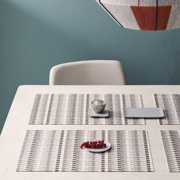 Салфетка подстановочная CHILEWICH Heddle Pebble жаккардовое плетение 36x48 см 100525-005