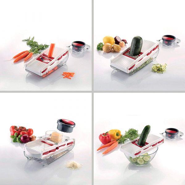 Терка для фруктов и овощей, 5 ножей для различных видов нарезки, Westmark Coated aluminium, 97122260