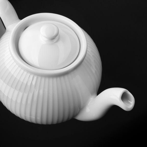 Чайник заварочный 1,5 л, белый фарфор, PILLIVUYT Plisse, 334215BX1