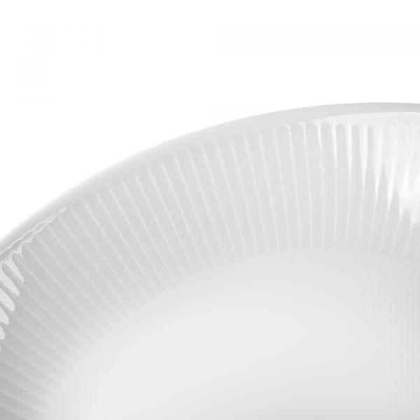 Тарелка суповая 23 см, белый фарфор, PILLIVUYT Plisse, 204223BL1