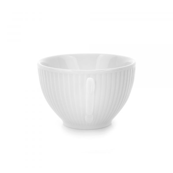 Чашка с блюдцем 180 мл, белый фарфор, PILLIVUYT Plisse, 994218BX1