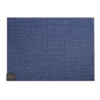 Салфетка подстановочная, винил, 36х48 см CHILEWICH Bay Weave Blue Jean 100637-002