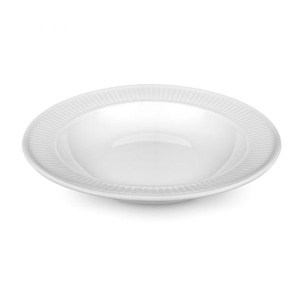 Тарелка суповая 22 см, белый фарфор, PILLIVUYT Plisse, 204222BL1