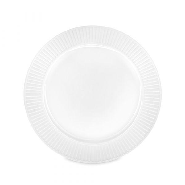 Тарелка обеденная 24 см, белый фарфор, PILLIVUYT Plisse, 214224BL1