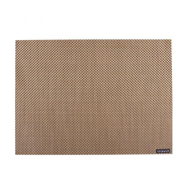 Салфетка подстановочная CHILEWICH Basketweave New Gold жаккардовое плетение 36x48 см 0025-BASK-NGOL