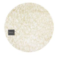 Салфетка подстановочная 38 см, винил, Gold CHILEWICH Metallic lace, 100449-002