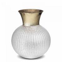 Стеклянная ваза для цветов 25 см IVV Ophelia, цвет прозрачный/шампань 8308.2