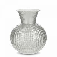 Стеклянная ваза для цветов 30 см IVV Ophelia, цвет жемчужно-белый, 8307.4